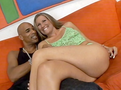 Sexy Blonde Seducing a Black plug ugly